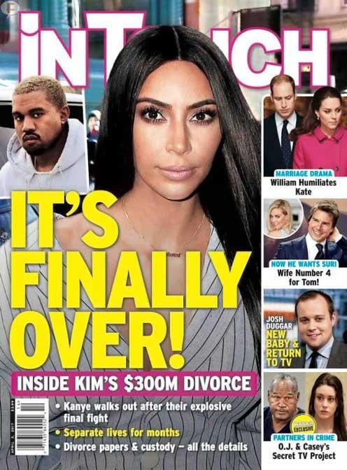 Kim Kardashian & Kanye West finalmente terminan! (InTouch)