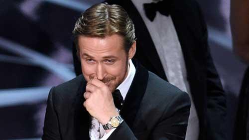 Ryan Gosling explica su risa en la confusion de los Oscars