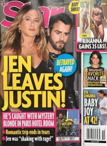 Jennifer Aniston deja a Justin! Por que nunca será madre (Tabloides!)