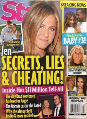 Jennifer Aniston cuenta todo! Secretos, mentiras e infidelidades! (Star)