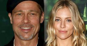 Brad Pitt coqueteando con Sienna Miller? What?