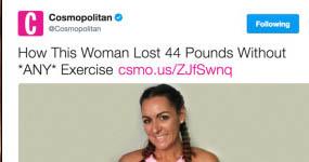 El tip Cosmopolitan para adelgazar! Cáncer! WTF?