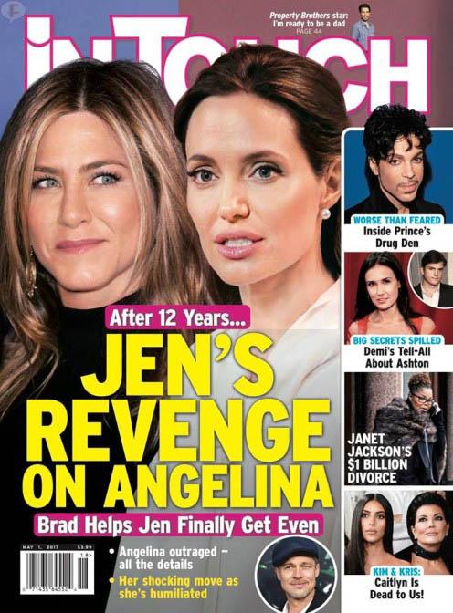 Jen Aniston se venga de Angelina 12 años después (InTouch)