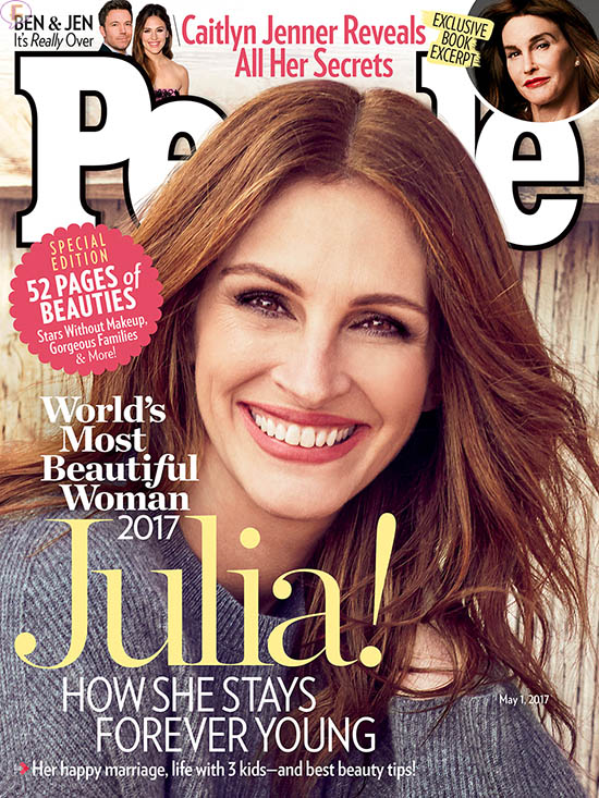 Julia Roberts: la Mujer Más Hermosa del Mundo 2017 - People