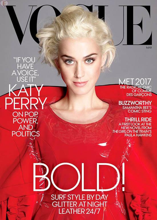 Katy Perry critica celebs sin posición politica (Vogue)