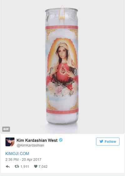 Kim Kardashian como la Virgen María! Sacrilegio!!