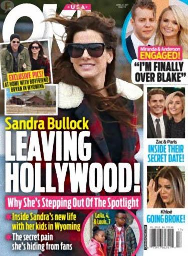 Sandra Bullock abandona Hollywood (OK!)