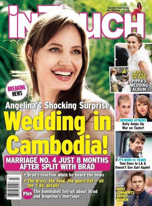 Angelina Jolie: Boda en Camboya! (InTouch)