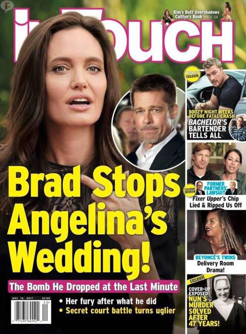 Brad detiene la boda de Angelina! (InTouch)