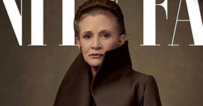 Elenco de Star Wars en Vanity Fair. Carrie Fisher como Princesa Leia.