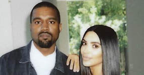 Kim Kardashian y Kanye West tomándose un break!
