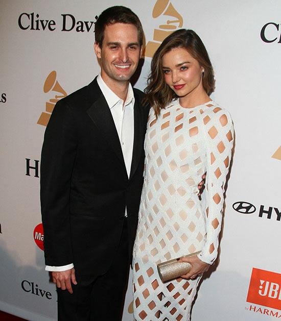Miranda Kerr se casó con Evan Spiegel en el patio de su casa