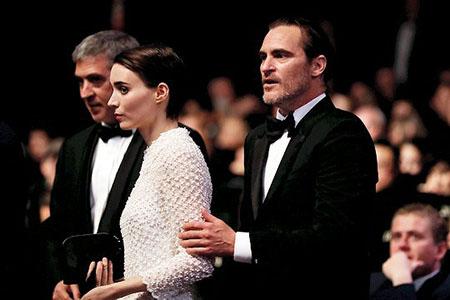 Rooney Mara y Joaquin Phoenix en Cannes