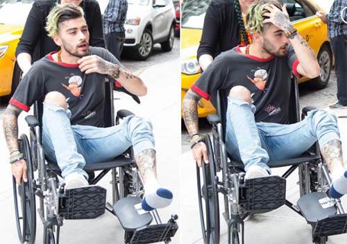 Zayn Malik en silla de ruedas!