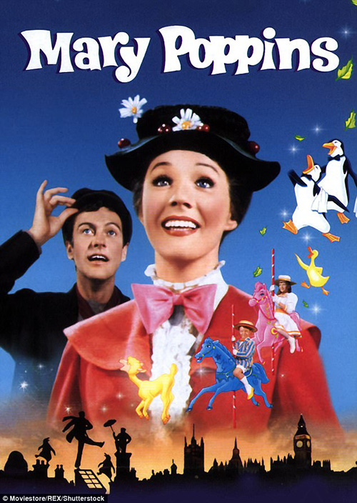 Emily Blunt como Mary Poppins (Entertainment Weekly)