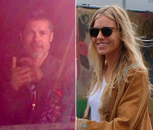 Brad Pitt y Sienna Miller juntos en Glastonbury?