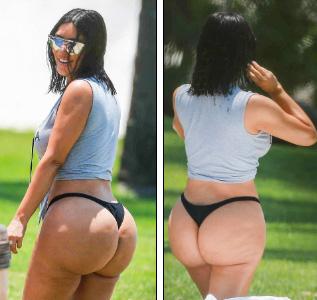 Kim Kardashian photoshopeada!! Su trasero no se ve tan mal! LOL!