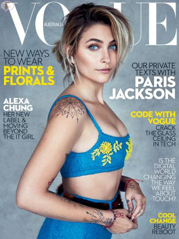 Paris Jackson en Vogue Australia