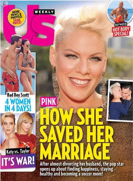 Pink y como salvó su matrimonio (Us)
