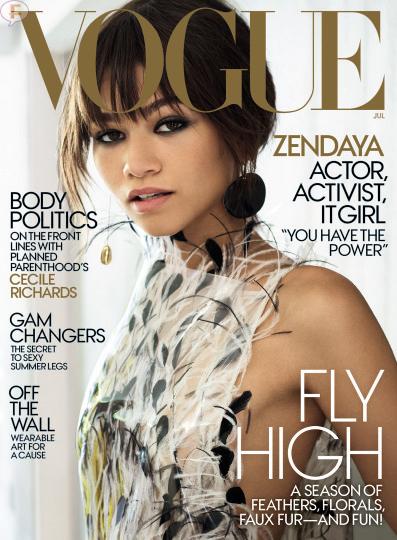 Zendaya en la portada de Vogue!