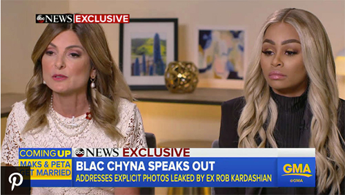 Blac Chyna devastada por fotos que publicó Rob! Good Morning America