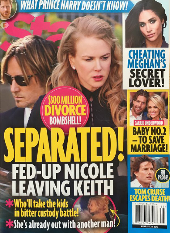 Nicole Kidman y Keith Urban separados! (Star)