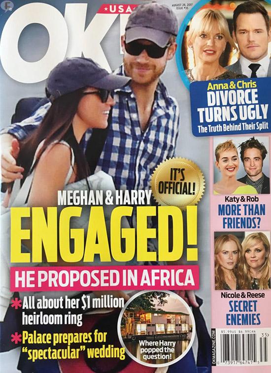 Principe Harry y Meghan Markle comprometidos!! (OK!)