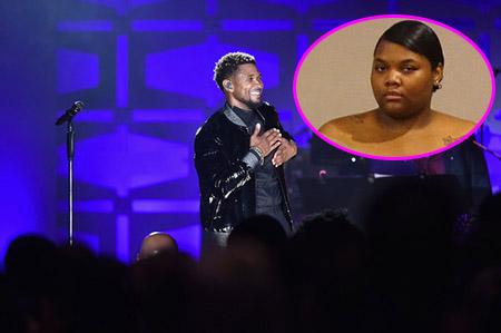 Usher niega haber estado con esa mujer en el hotel!