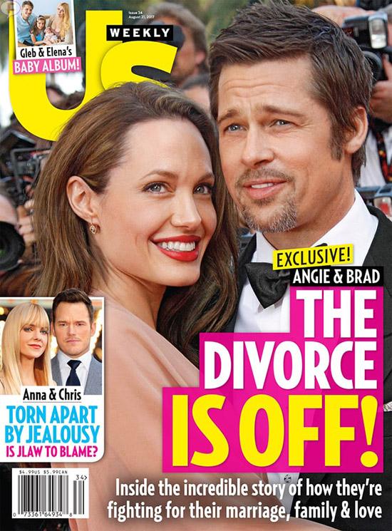 El divorcio de Brad y Angelina en el limbo? (Us)