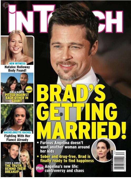 Brad se casa! Angelina furiosa LOL! (InTouch)