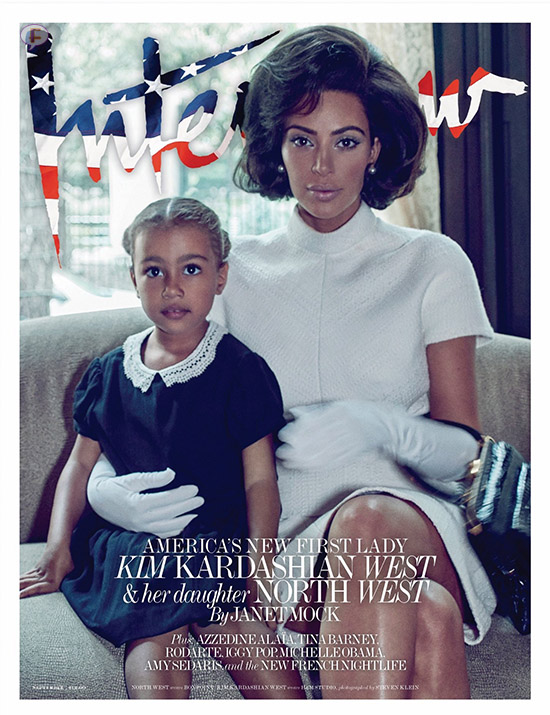 Kim Kardashian con North como La Primera Dama - Interview