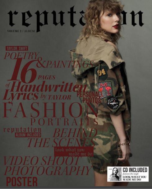 Taylor Swift publica portadas de Reputation + Video
