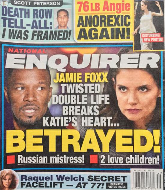 Jamie Foxx traicionó a Katie Holmes!! (Enquirer)