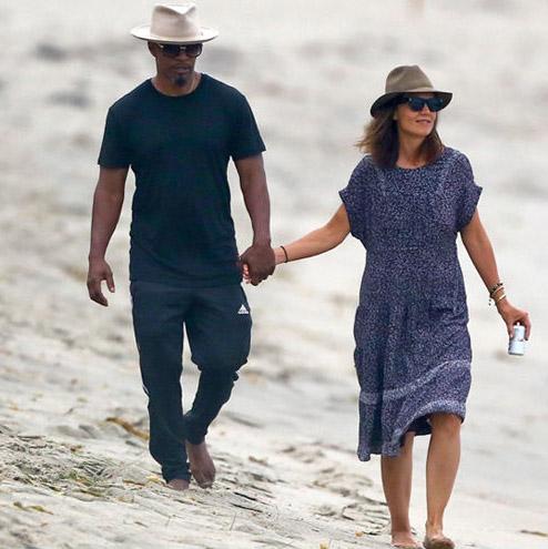 Katie Holmes y Jamie Foxx juntos en la playa!! Ya no se esconden!