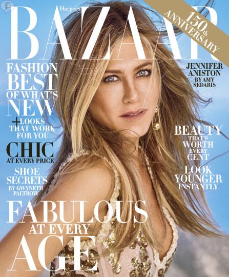 Jennifer Aniston en Harper's Bazaar, Octubre 2017