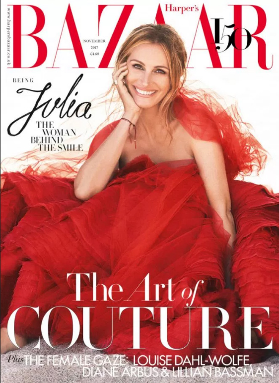 Julia Roberts: era una mocosa egoísta (Harper's Bazaar)