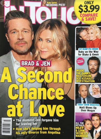 Brad y Jen: Segunda oportunidad! LOL! InTouch