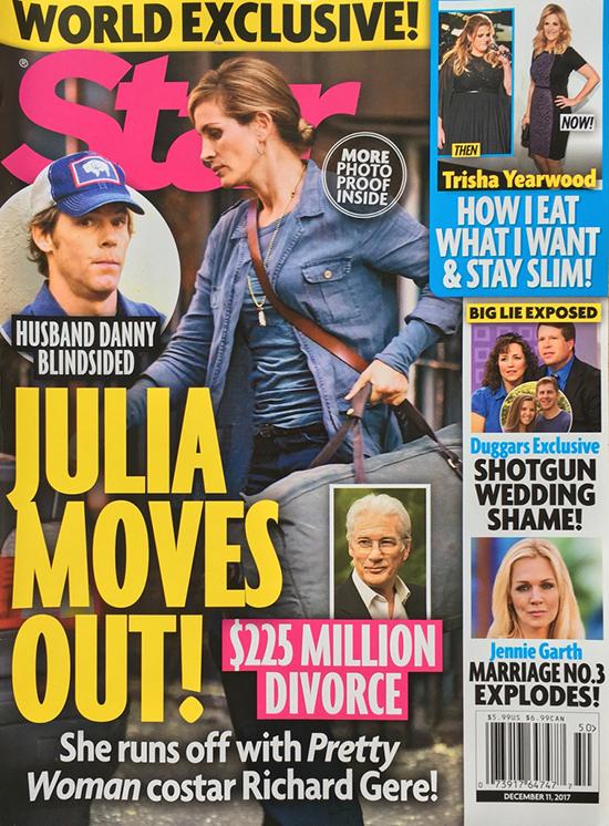 Julia Roberts se muda para irse con Richard Gere! LOL! (Star)