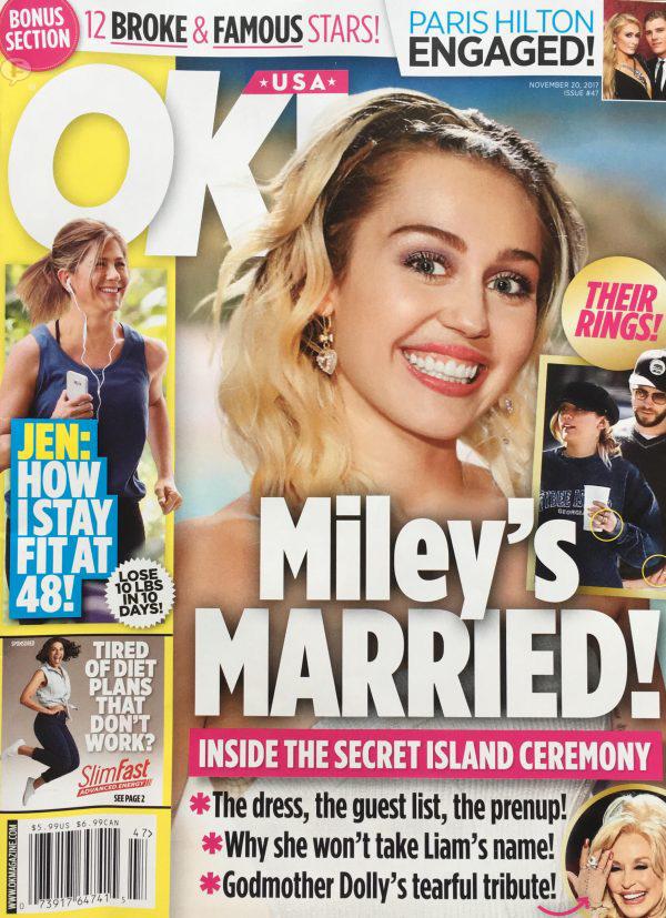 Miley Cyrus Casada! OK!