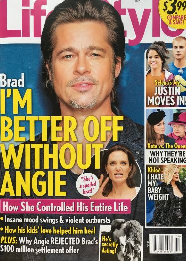 Brad Pitt: estoy mejor sin Angelina - LOL! (Life&Style)