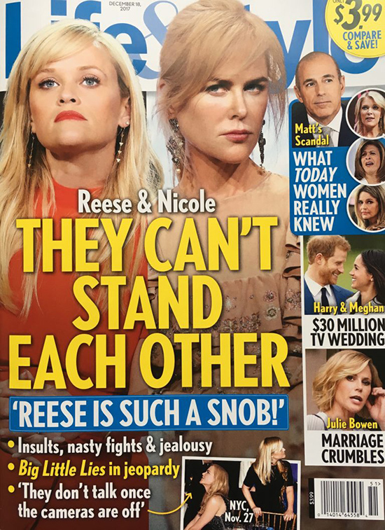 Reese Witherspoon y Nicole Kidman no se soportan (Life&Style)