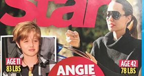 Angelina Jolie pesa menos que Shiloh! (Star)