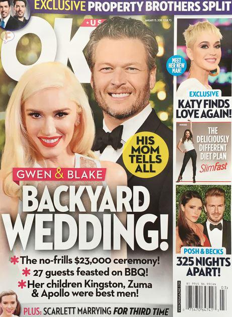 Gwen Stefani y Blake Shelton casados! Gwen canceló la boda? (OK! L&S)