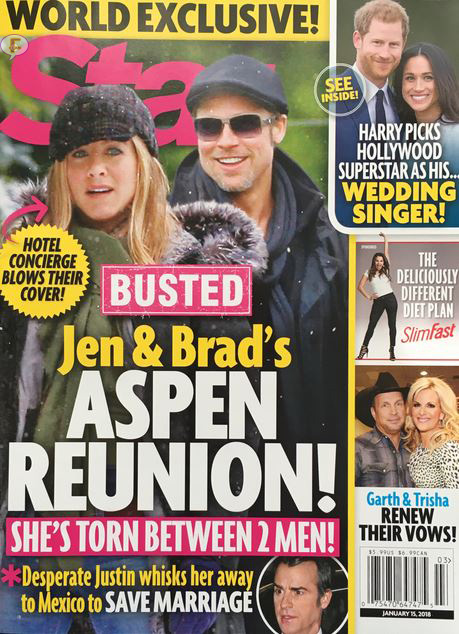 Brad Pitt Jennifer Aniston casados de nuevo? Se escapan! (Intouch - Star)