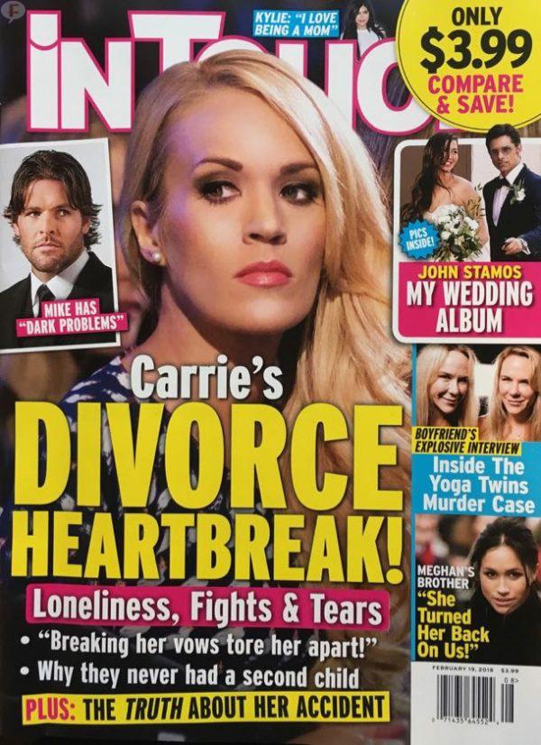 Carrie Underwood sufre por su divorcio! (InTouch)