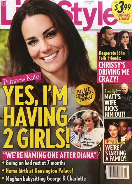 Kate Middleton embarazada de gemelas? (Life&Style)