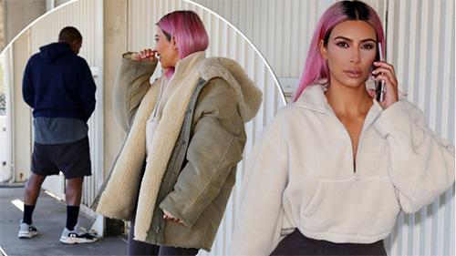 Kanye orina en la calle, Kim con cabello rosa y Baby Chicago