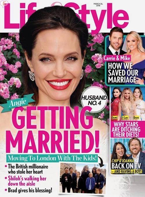 Angelina Jolie se casa por 4ta vez! [Life&Style]