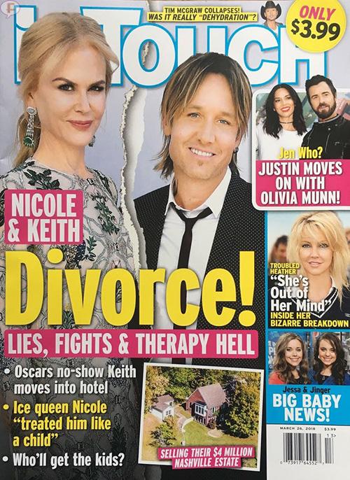 Nicole Kidman y Keith Urban: Divorcio! [InTouch]