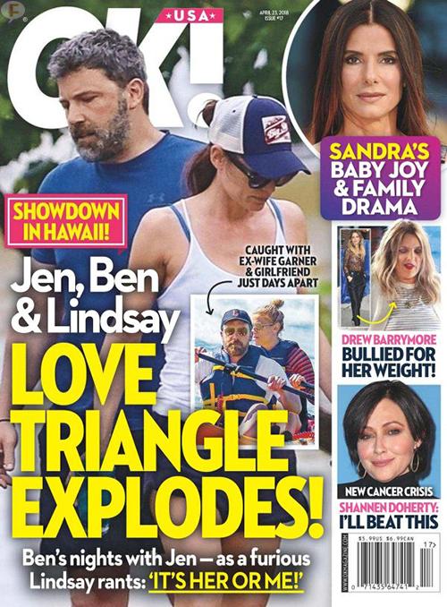 Jen Garner, Ben Affleck y Lindsay Shookus: Explota triángulo amoroso! (OK!)
